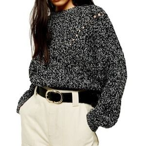 Topshop Pointelle chunky sweater